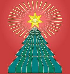Shining xmas star vector