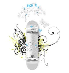 Skate board design vector