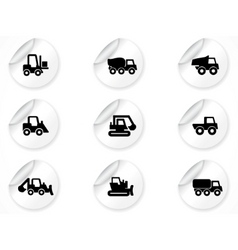 stickers with icons vector image vector image