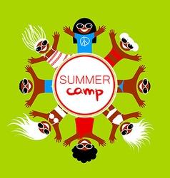 Summer camp template vector
