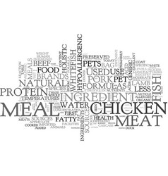 Where s the meat in my pets food text word cloud vector