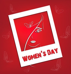 Womens day background vector image