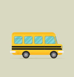 yellow school bus flat style vector image