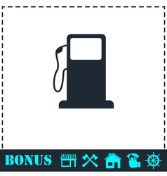 Gas station icon flat vector image