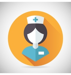 Medical treatment nurse symbol female physician vector