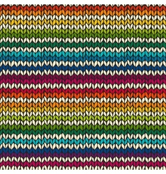 Seamless pattern with hand drawn knitted stripes vector