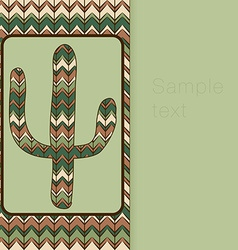 Background pattern with cactus use as backdrop vector