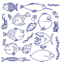 Cartoon comic fish vector