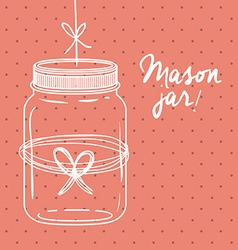 Mason jar design vector image