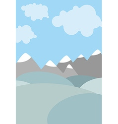 Cartoon natural landscape sky with clouds vector