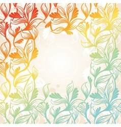 Colored floral frame vector