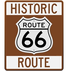 Historic route 66 sign vector