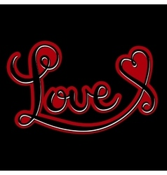 Love handmade calligraphy vector
