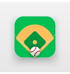 Square icon of baseball sport vector