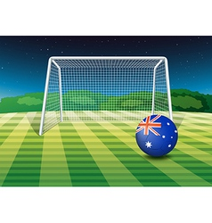 A soccer ball from australia vector