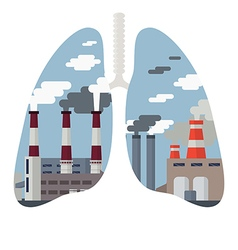 Air pollution cityscape vector