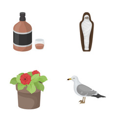 Alcohol history and other web icon in cartoon vector