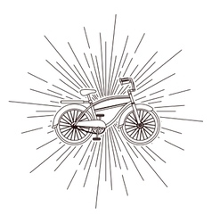 Bicycle over burst background isolated icon design vector