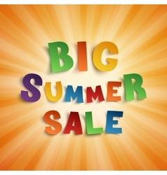 Big summer sale background vector image vector image