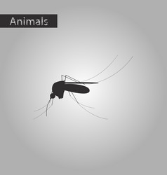 Black and white style icon of mosquito vector