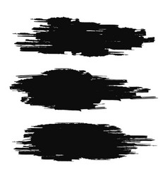 Brush stroke collection black grunge texture vector