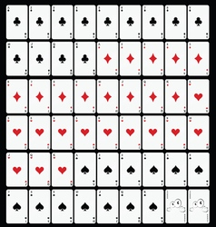 Cards set game vector