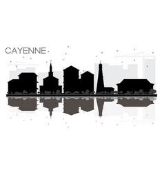 Cayenne french guiana city skyline black and vector