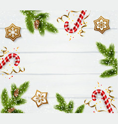 Christmas frame template vector