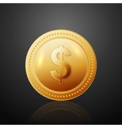 Coin dollar vector