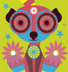 color lemur vector image vector image