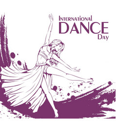 dance day contemporary dance vector image