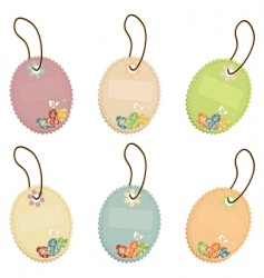Easter tags vector image vector image