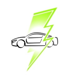 Electric vehicle simple logo vector image