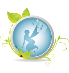 fairy looking glass vector image vector image