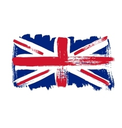 Flag of Great Britain on a white background vector image