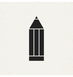 Flat pencil icon vector