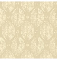 Grunge leaf texture seamless pattern vector image vector image