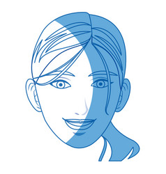 Head woman female face smiling vector