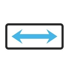 Horizontal flip framed icon vector