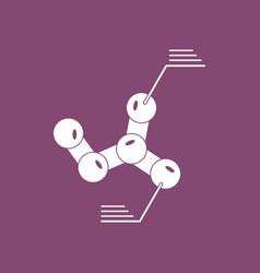 Icon molecules elements vector