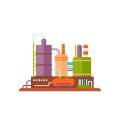 Industrial factory buildings vector