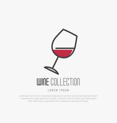 logotype of wine and wine making vector image
