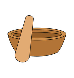 Mortar and pestle icon image vector