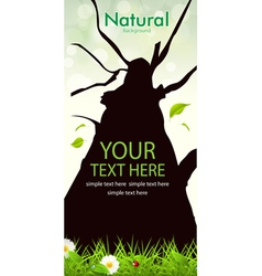 Natural Tree Background vector image vector image