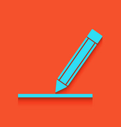 Pencil sign whitish icon on vector