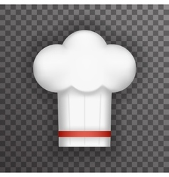 Realistic 3d Chief Cook Symbol Toque Cuisine Food vector image