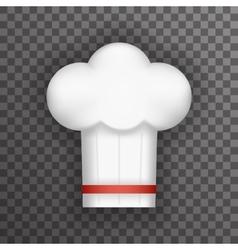 Realistic 3d Chief Cook Symbol Toque Cuisine Food vector image vector image