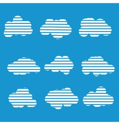 Set of cloud vector image