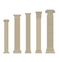 set of column 2 vector image vector image
