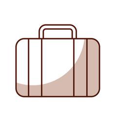 shadow suitcase cartoon vector image